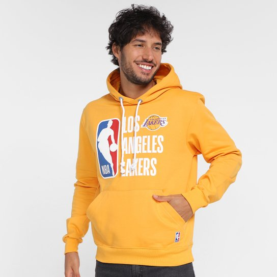 Moletom NBA Los Angeles Lakers Com Capuz Masculino - Amarelo