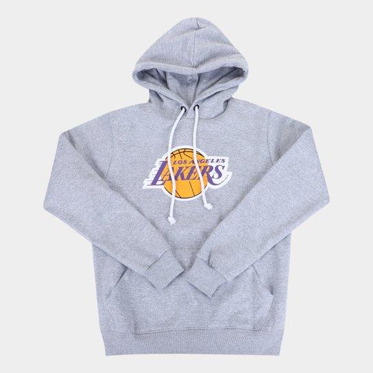 Moletom NBA Los Angeles Lakers Juvenil Canguru Masculino - Mescla