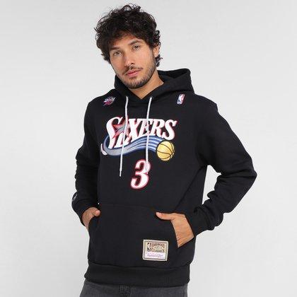Moletom NBA Philadelphia 76ers Mitchell & Ness Sixers Masculina