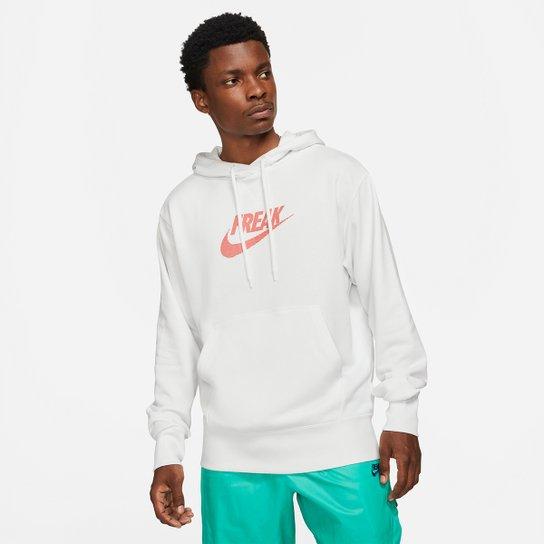 Moletom Nike Giannis Antetokounmpo Freak Masculino - Branco+Laranja