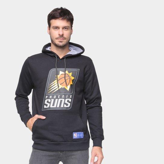 Moletom Phoenix Suns NBA Shield Masculino - Preto