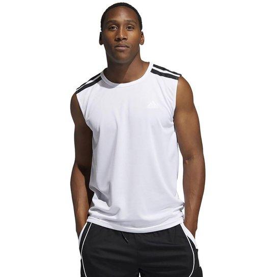 Regata Adidas All World Masculina - Branco+Preto
