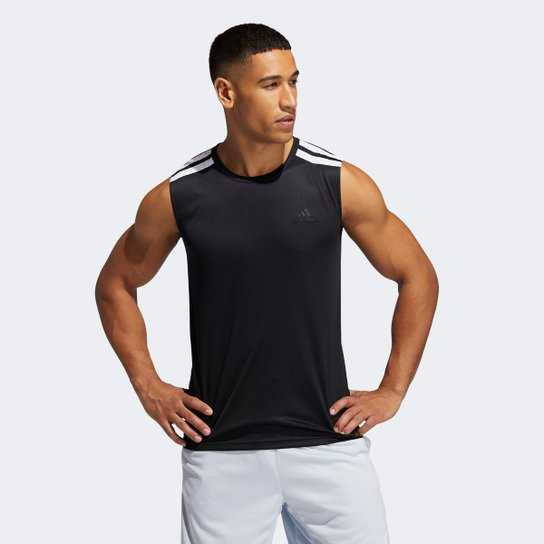 Regata Adidas Basketball All Word Masculina - Preto+Branco