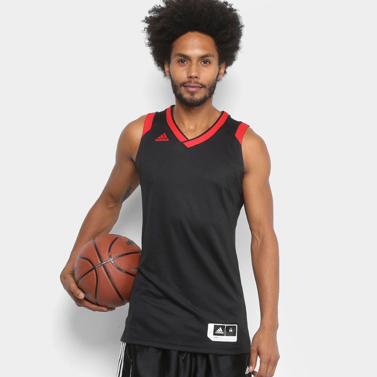 Regata Adidas Crazy Explosive Masculina - Preto e Vermelho - Compre Agora  876b8f0358035