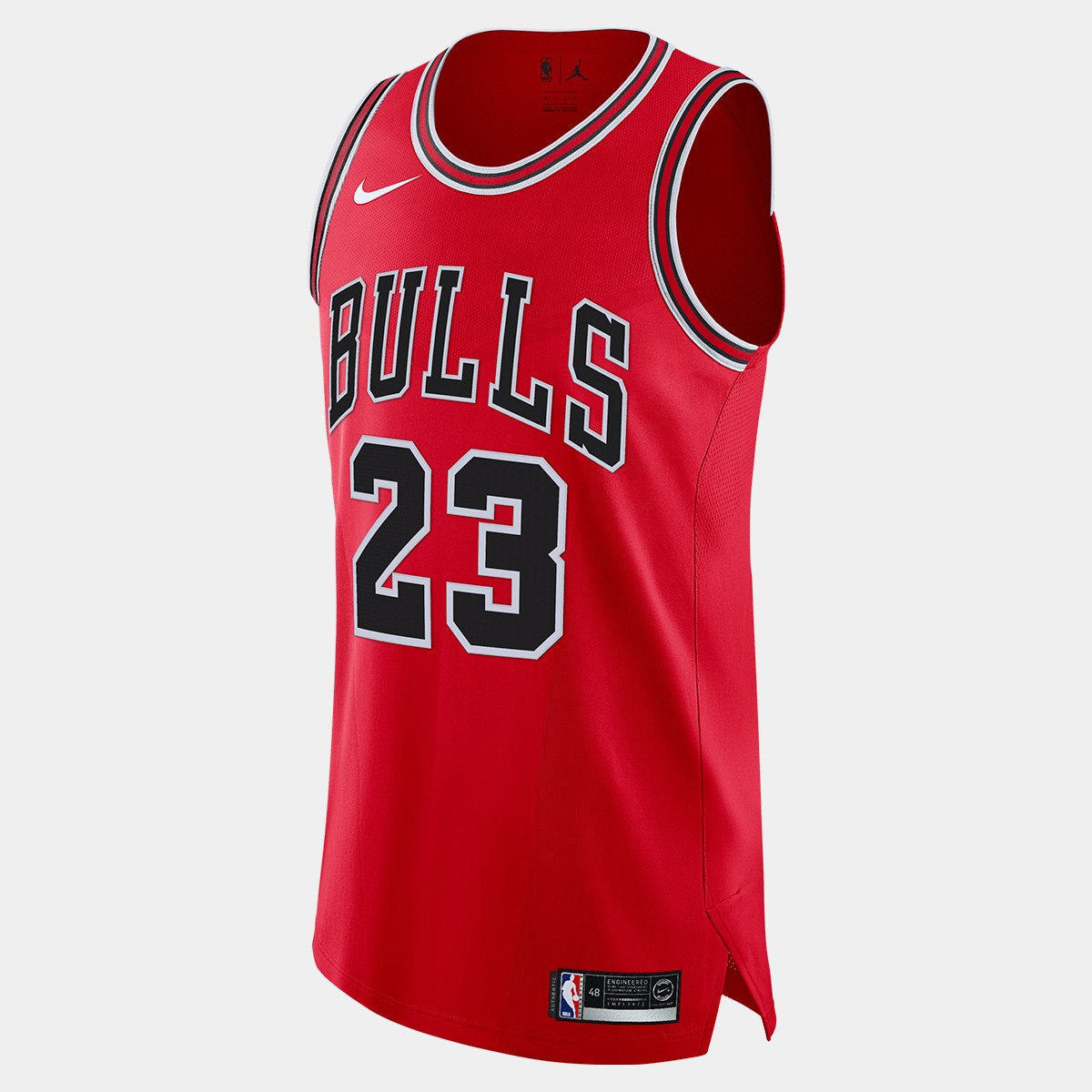 c958198165348 Regata Authentic Nike Chicago Bulls Road Jordan 23 - Compre Agora ...