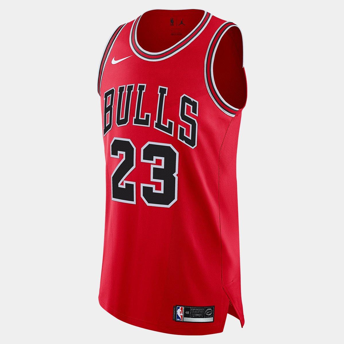 ce37d1483 Regata Authentic Nike Chicago Bulls Road Jordan 23 - Compre Agora ...