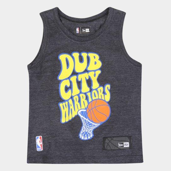 Regata Juvenil NBA Golden State Warriors New Era Masculina - Mescla Escuro