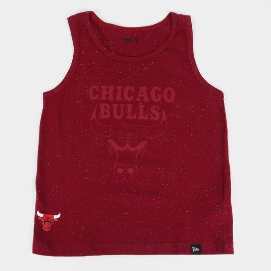 Regata Juvenil New Era NBA Chicago Bulls New Era Masculina - Vermelho