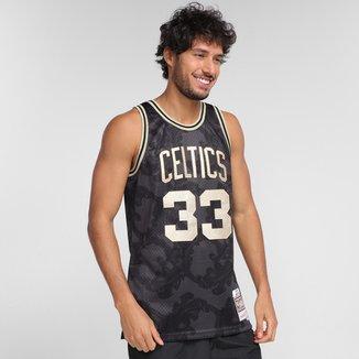 Regata NBA Boston Celtics Larry Bird nº33 Mitchell & Ness Golden Masculina
