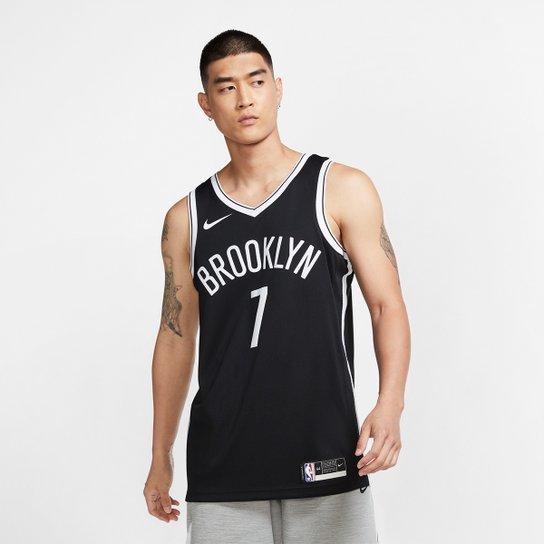 Regata NBA Brooklyn Nets Kevin Durant 7 Icon Edition 2020 Masculina - Preto