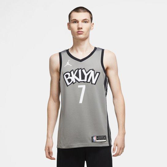 Regata NBA Brooklyn Nets Kevin Durant Nike Masculina - Cinza+Preto