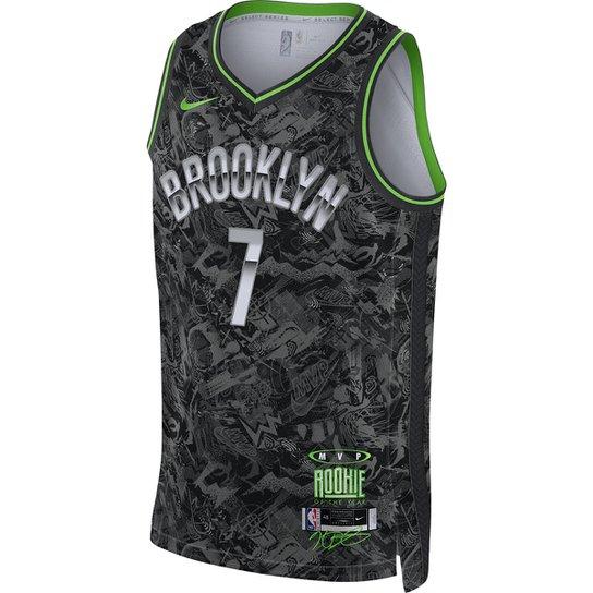 Regata NBA Brooklyn Nets Kevin Durant Nike MVP Select Series Masculina - Cinza