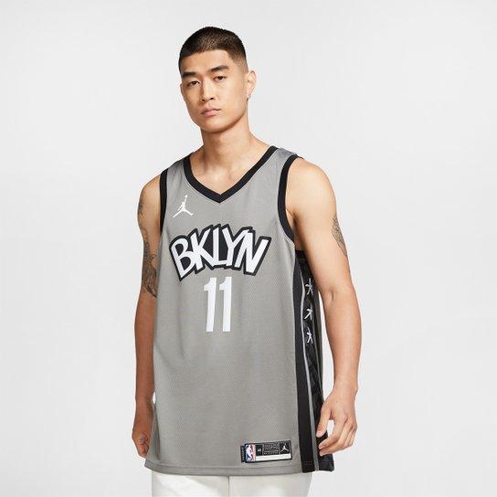 Regata NBA Brooklyn Nets Kyrie Irving Nike Masculina - Preto+Cinza