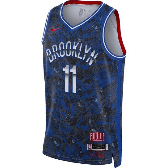 Regata NBA Brooklyn Nets Kyrie Irving Nike ROY Select Series Masculina - Azul