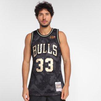 Regata NBA Chicago Bulls Scottie Pippen nº33 Mitchell & Ness Golden Masculina