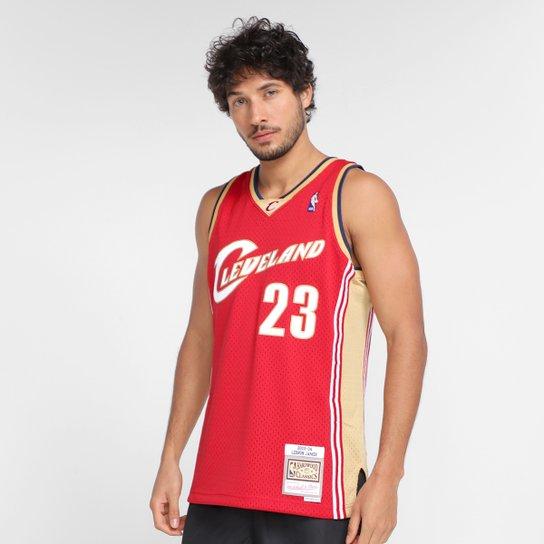 Regata NBA Cleveland Cavaliers Lebron James nº23 Mitchell & Ness Masculina - Vermelho