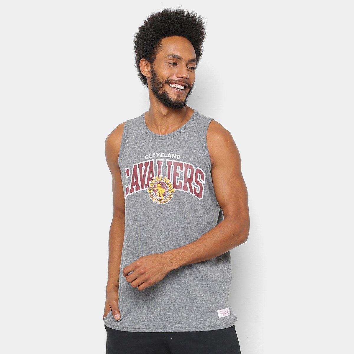 abf8b98c60 Regata NBA Cleveland Cavaliers Mitchell   Ness Team Arch Masculina ...