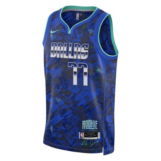 Regata NBA Dallas Mavericks Luka Doncic Roy Nike Swingman Select Series Masculina - Azul Royal