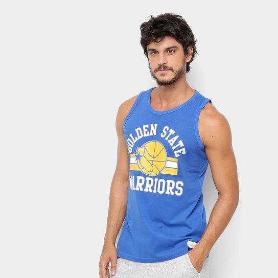 Regata NBA Golden State Warriors Mitchell & Ness Masculina - Azul
