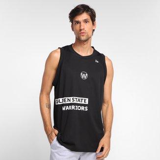 Regata NBA Golden State Warriors New Era Veranito Side Stripe Masculina