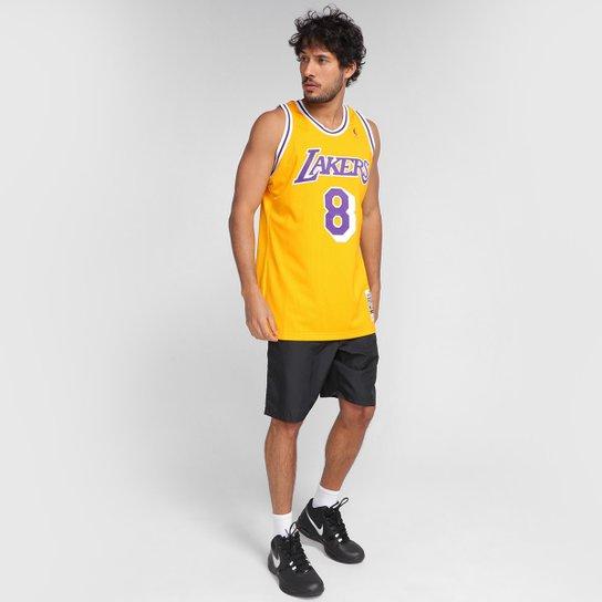 Regata NBA Los Angeles Lakers Kobe Bryant nº8 Mitchell & Ness Masculina - Amarelo