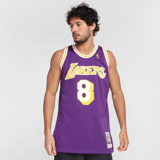 Regata NBA Los Angeles Lakers Kobe Bryant nº8 Mitchell & Ness Masculina - Roxo