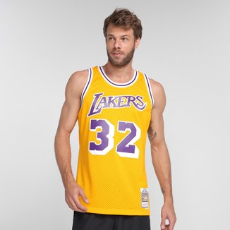 Regata NBA Los Angeles Lakers Magic Johnson nº 32 Mitchell & Ness Masculina