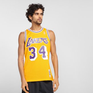 Regata NBA Los Angeles Lakers nº 34 O'Neal Mitchell & Ness Masculina