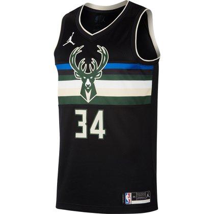 Regata NBA Milwaukee Bucks Giannis Antetokounmpo 20 Nike Swingman Jersey Masculina
