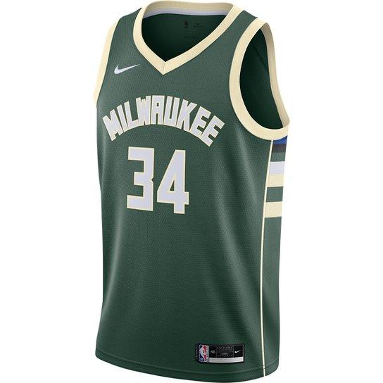 Regata NBA Milwaukee Bucks Giannis Antetokounmpo Nike Icon Edition 2020 Maculina - Verde