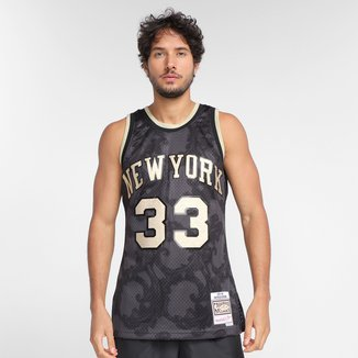 Regata NBA New York Knicks Patrick Ewing nº33 Mitchell & Ness Golden Masculina