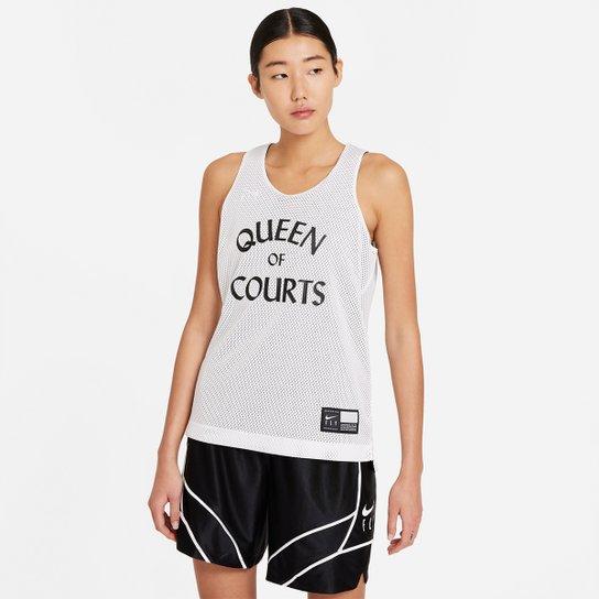 Regata NBA Nike Reversivel Print Feminina - Branco+Preto
