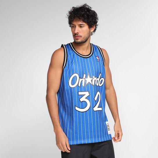 Regata NBA Orlando Magic Shaquille O'Neal nº32 Mitchell & Ness Masculina - Azul