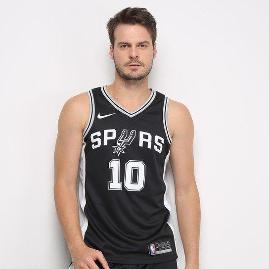 Regata NBA San Antonio Spurs Nike Icon Edition Swingman Masculina - Preto+Prata