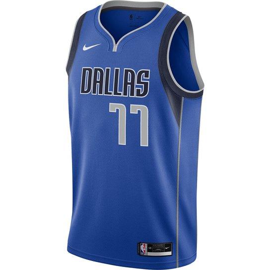 Regata NBA Swingman Dallas Mavericks Luka Dončić Nike JSY Icon Masculina - Azul Royal