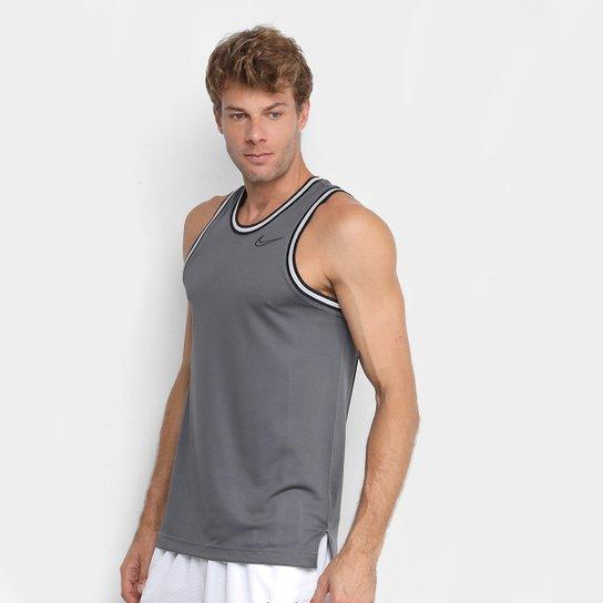 Regata Nike Classic Jersey Dri-Fit Masculina - Cinza+Preto