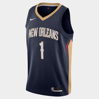 Regata Nike NBA New Orleans Pelicans Zion Williamson Icon Edition 2020 Masculina