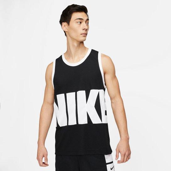 Regata Nike NBA Startings JS Masculina - Preto+Branco