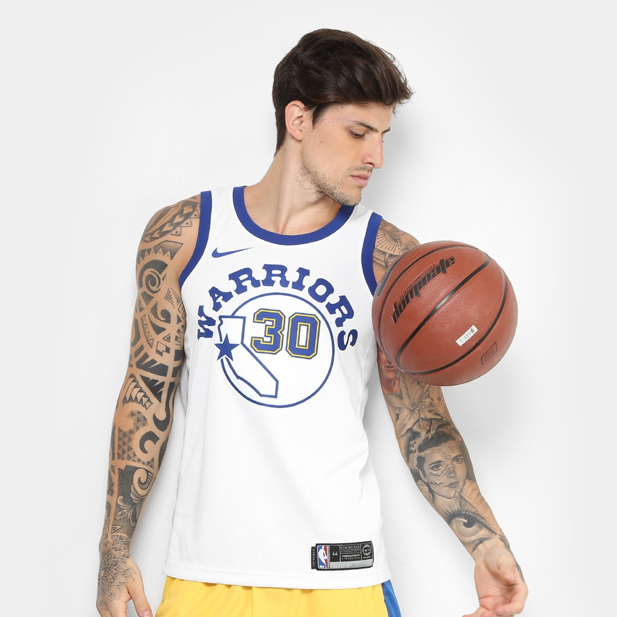 Regata Swingman Jersey NBA Golden State Warriors - Stephen Curry HWC Nike  Masculina - Compre Agora  b191cb48f23