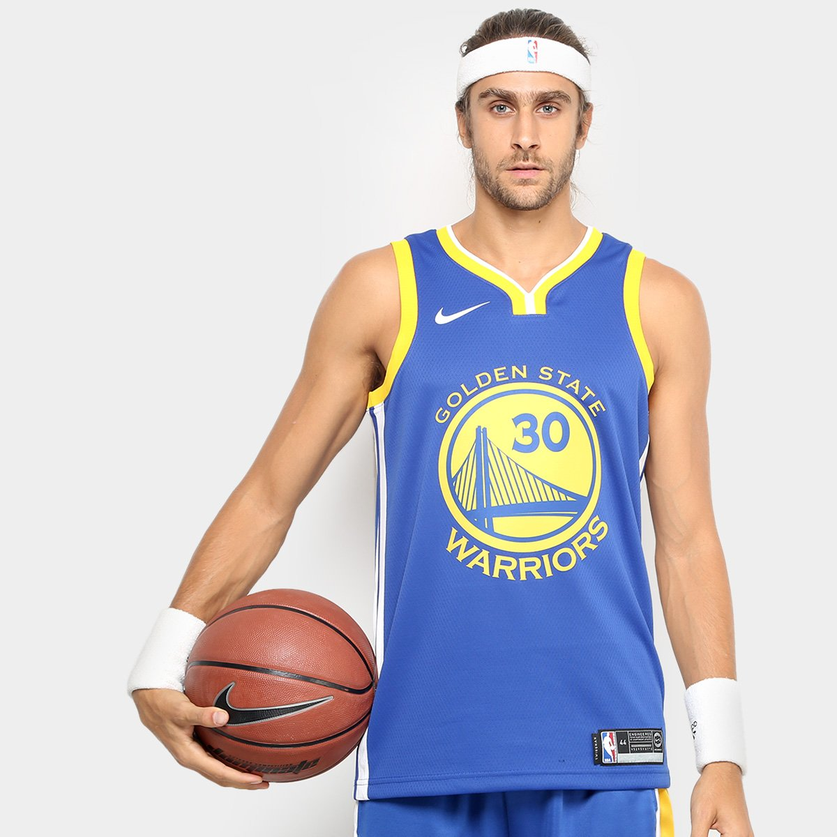 Regata Swingman NBA Golden State Warriors Nike Road Curry - Azul e amarelo  - Compre Agora  45601a7c5ba
