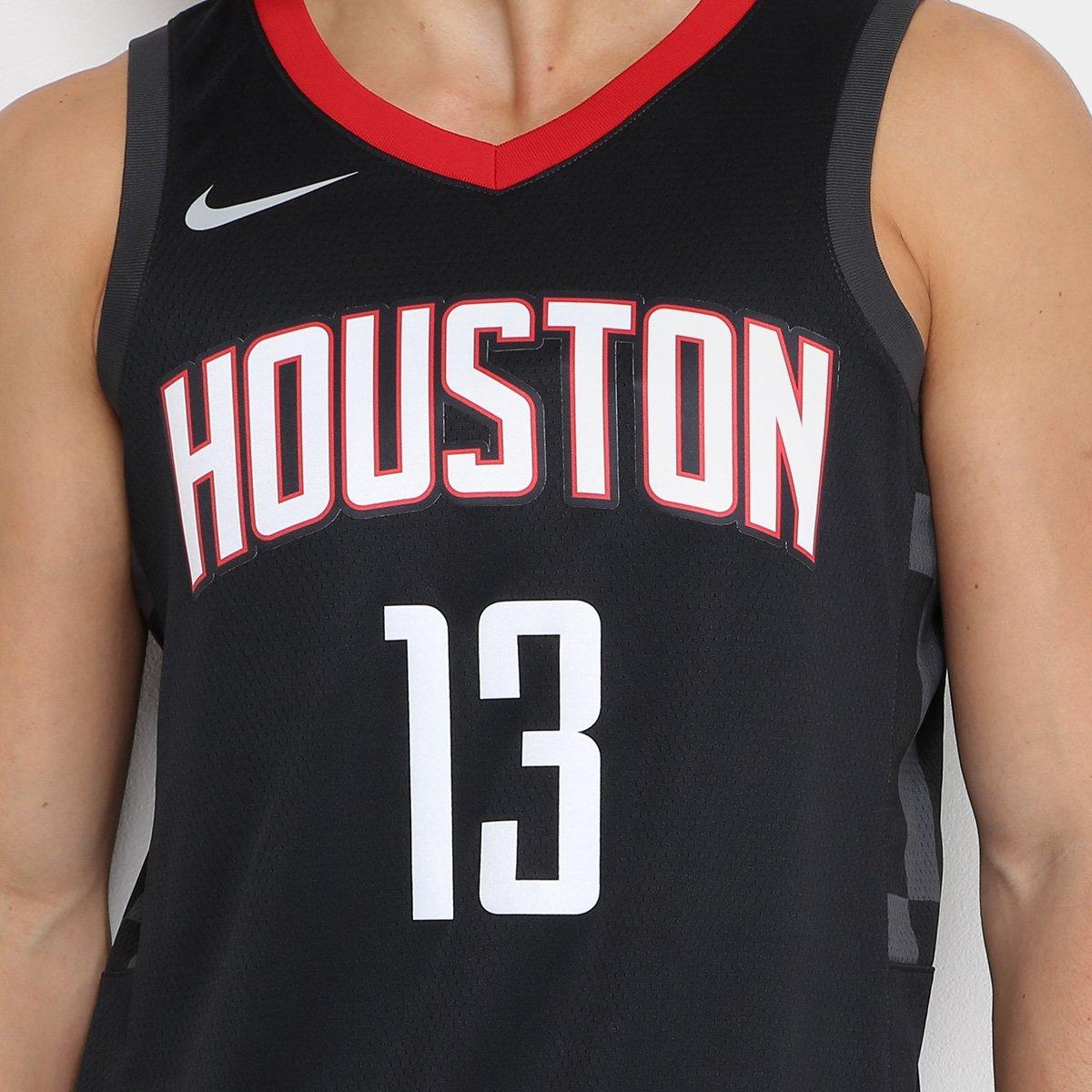 Regata Swingman NBA Houston Rockets Nike - James Harden - Preto e Vermelho a4b487560