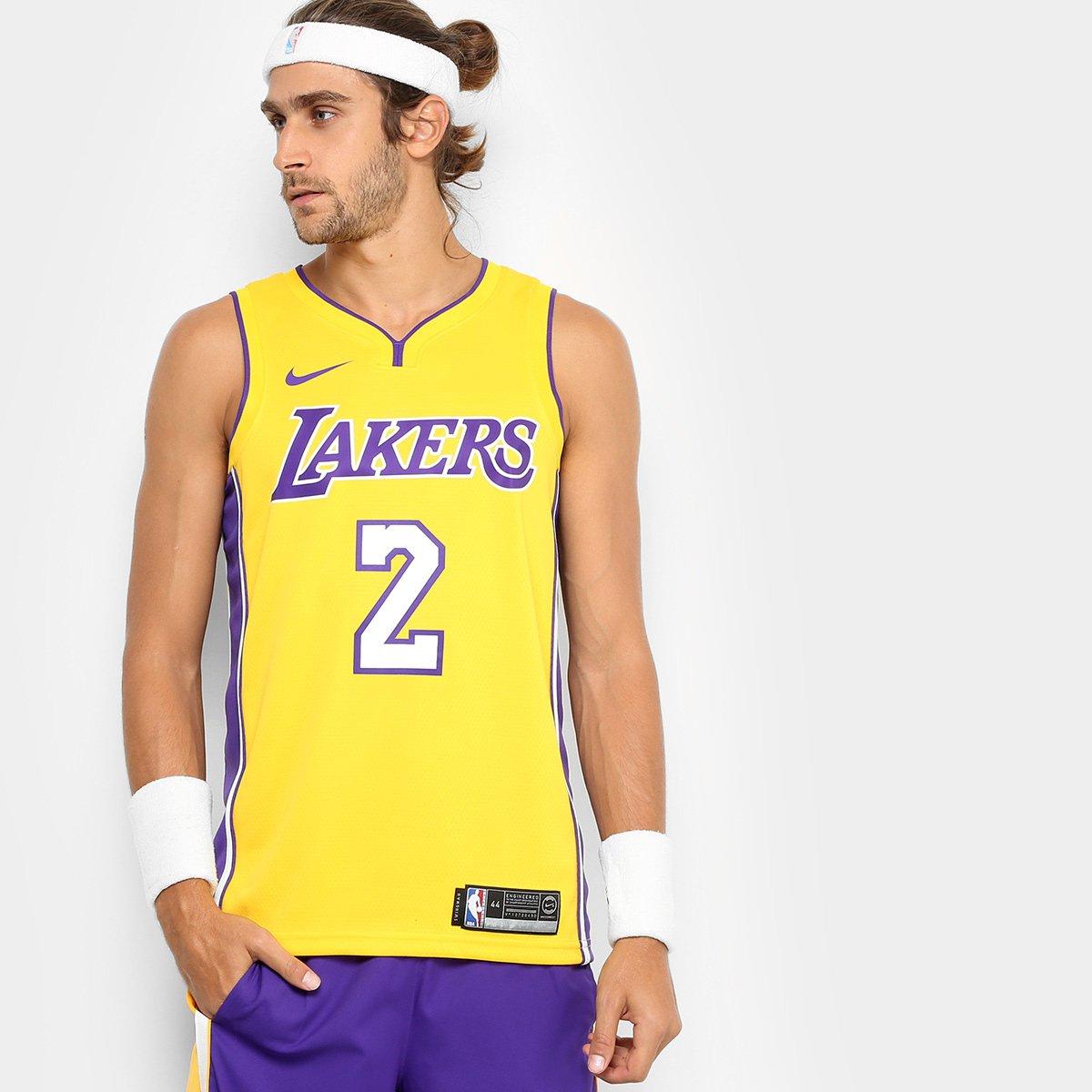 ce0d1babdc2d6 Regata Swingman NBA Los Angeles Lakers Nike Home Ball - Compre Agora ...