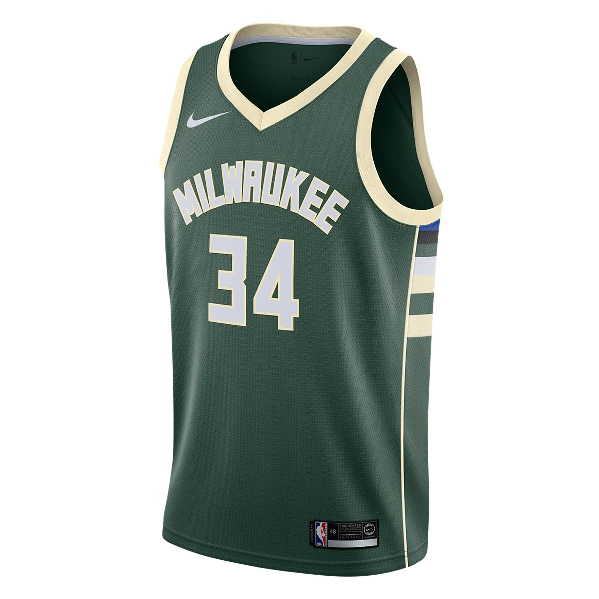 4eb74d0104 Regata Swingman NBA Milwaukee Bucks Giannis Antetokounmpo Nike Road - Verde  escuro | Loja NBA