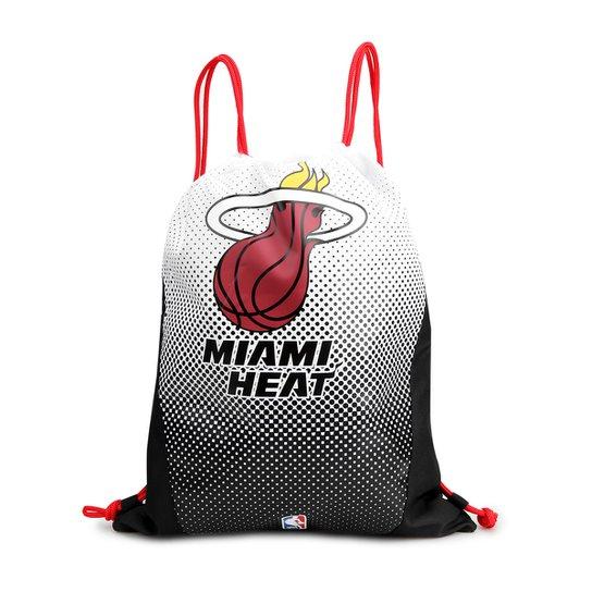 Sacola NBA Miami Heat DMW Gym Sack - Branco+Preto