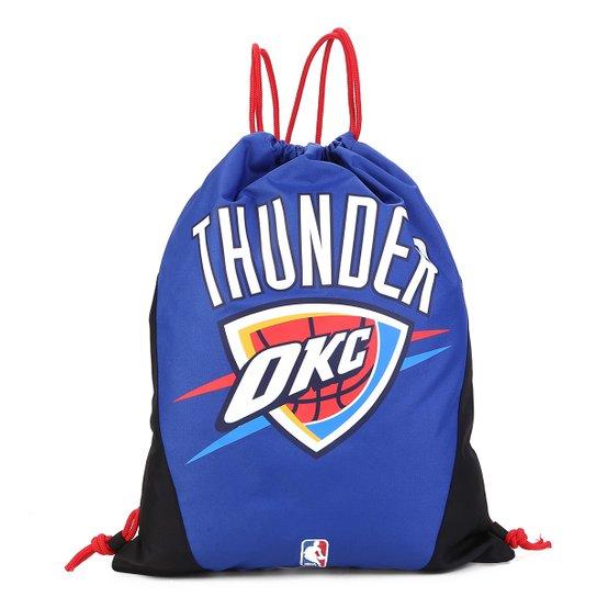 Sacola NBA Oklahoma City Thunder - Gym Sack - Azul+Preto