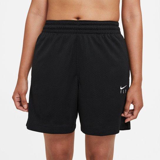Short Nike NBA Fly Feminino - Preto+Branco