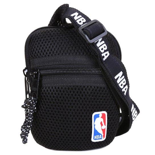 Shoulder Bag NBA Masculina - Preto