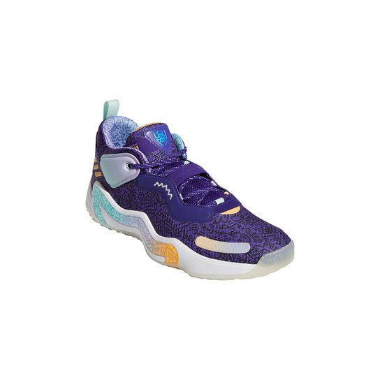 Tênis Adidas D O N Issue 3 Playground Hoops - Roxo
