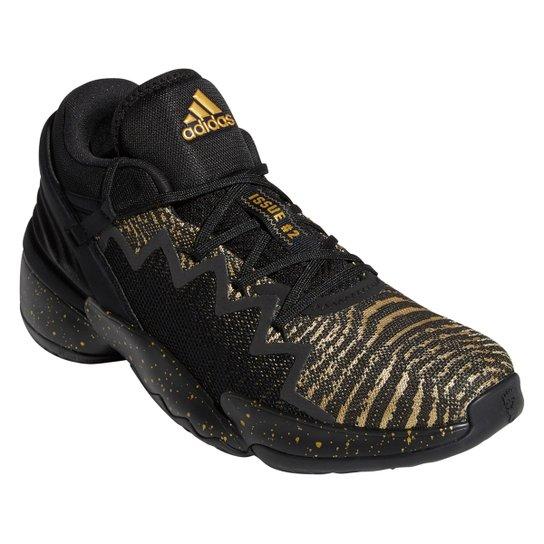 Tênis Adidas Donovan Mitchell Issue 2 - Preto+Dourado