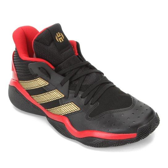 Tênis Adidas Harden Stepback Masculino - Preto+Vermelho